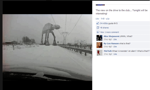 AT-AT Star Wars Fail