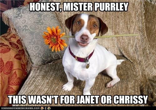 HONEST, MISTER PURRLEY THIS WASN'T FOR JANET OR CHRISSY
