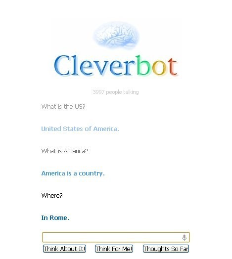 Cleverbot,geography