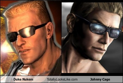 Duke Nukem,johnny cage,Mortal Kombat,TLL