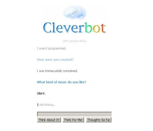 Music silent music immaculate conception Cleverbot - 7049553152