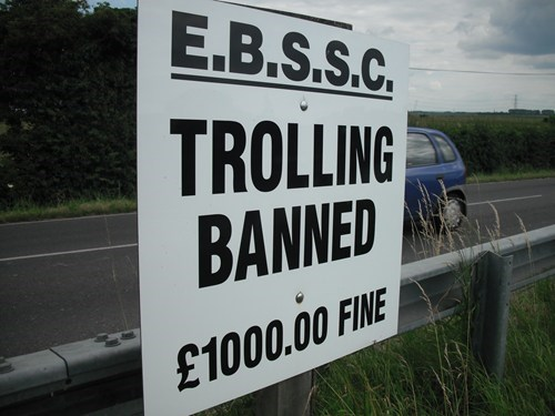 laws,road signs,trolling banned
