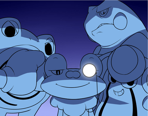 art,you came to the wrong neighborhood,frogs