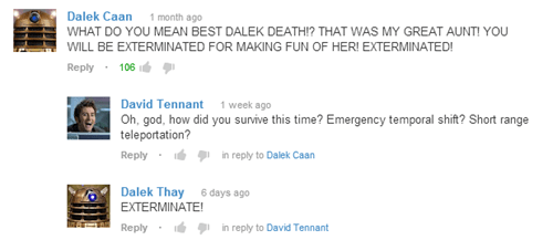 dalek comments doctor who - 7051592960