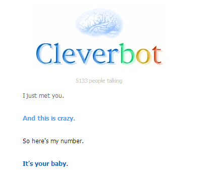 call me maybe Cleverbot - 7051789568
