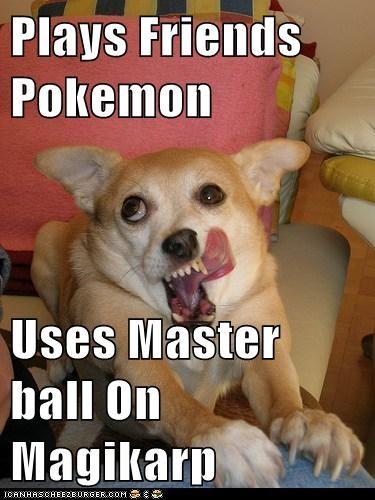 Plays Friends Pokemon  Uses Master ball On Magikarp