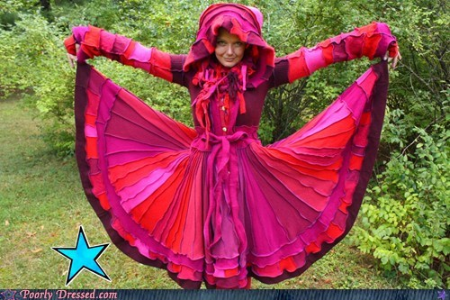dresses pink hoods - 7051876096
