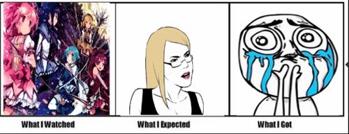 feels Puella Magi Madoka Magica expectations vs reality anime - 7053290240