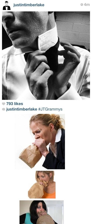 backstage Justin Timberlake Grammys instagram - 7053419008