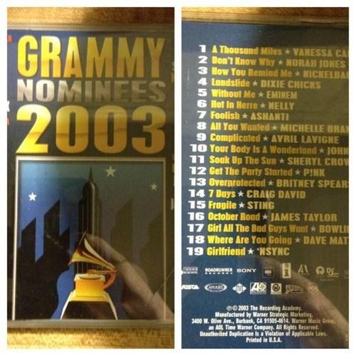 album,2003,Grammys,memories,nostalgia