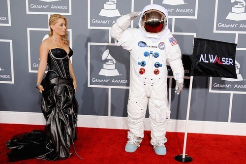 astronaut,Grammys,red carpet,al walser