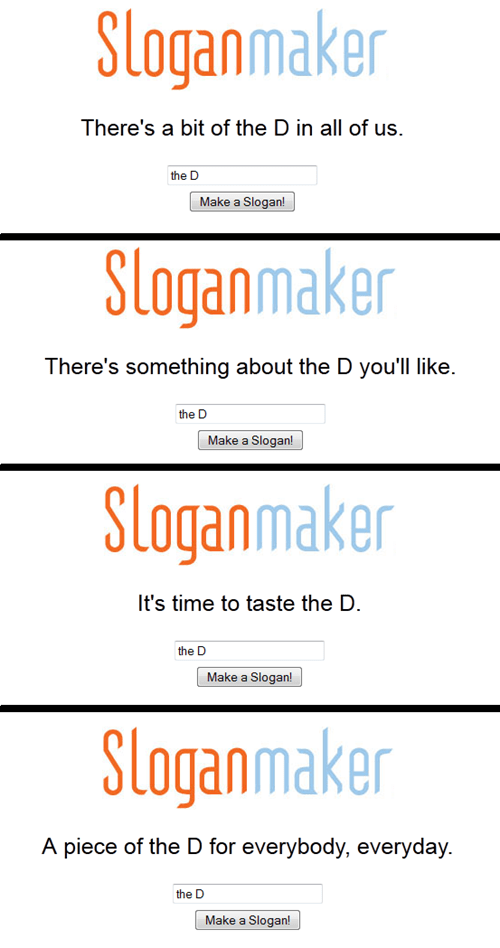 slogan maker,THE D