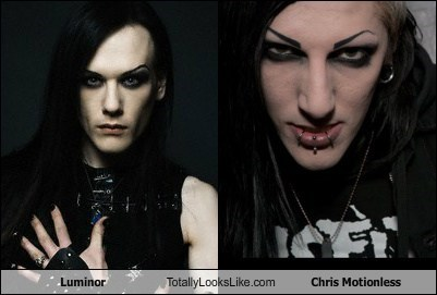 goth luminor eyebrows chris motionless TLL