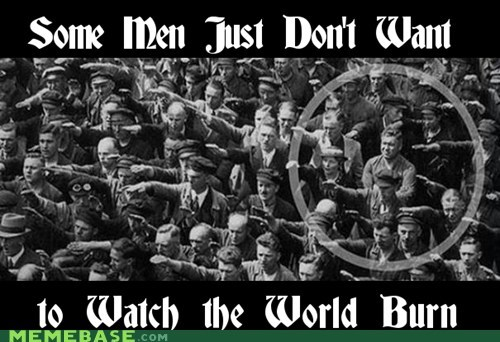 watch the world burn,nazis,august landmesser,some men