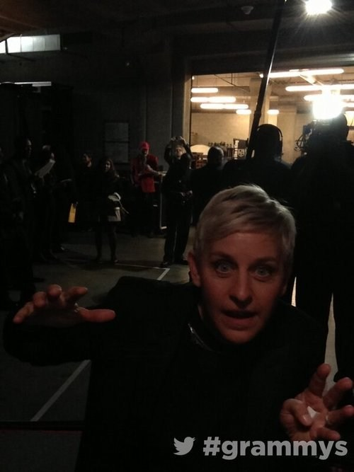 backstage,ellen,Grammys,lurking