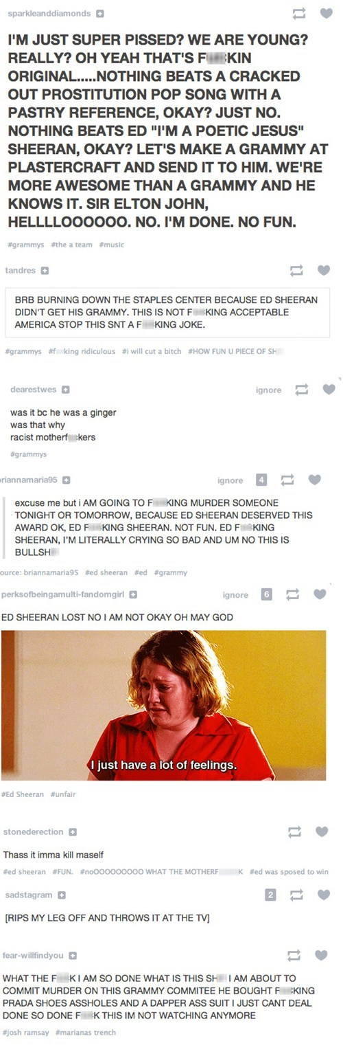 fun Ed Sheeran tumblr Grammys