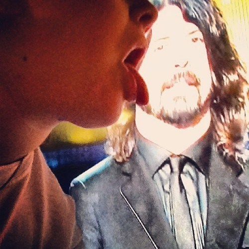 Dave Grohl lick Grammys TV wtf - 7053926912