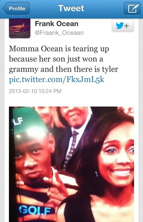 frank ocean,OFWGKTA,Grammys,Tyler The Creator