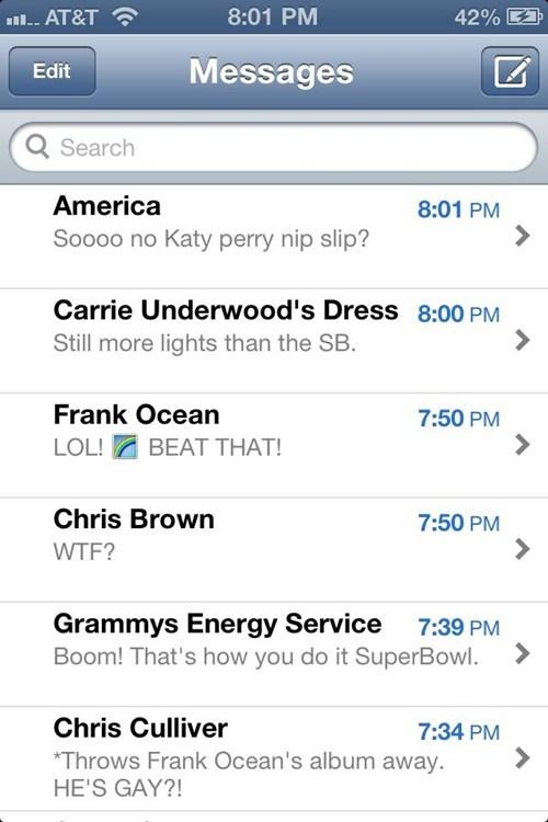 frank ocean Grammys iPhones chris culliver - 7054129920