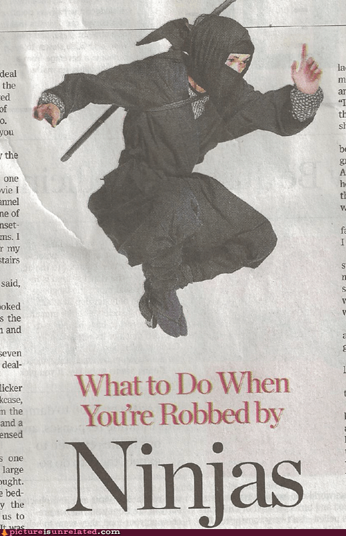 robbed,ninjas,newspaper