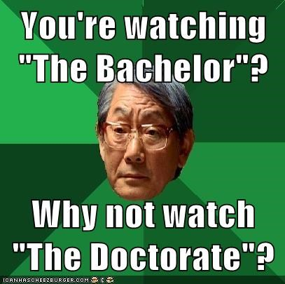 the bachelor TV education high expectations asian dad