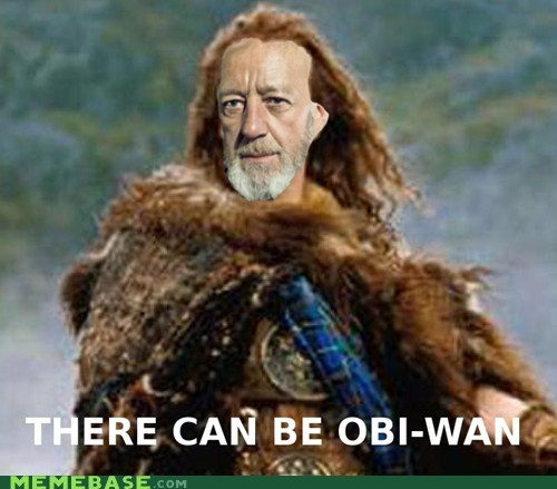 crossover star wars highlander obi wan - 7054222336