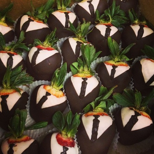 chocolate dipped strawberries suits formal ties