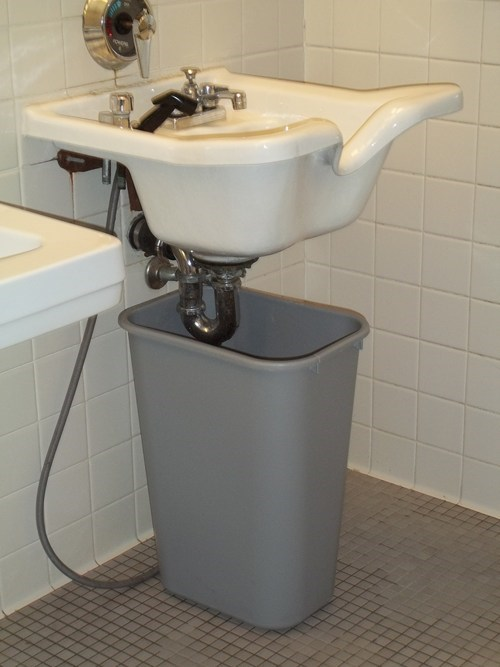 drainage restroom garbage trash bin sink bathroom - 7055106048