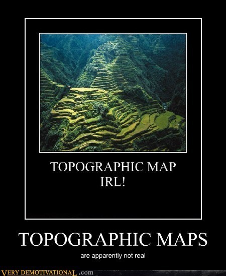 topographical IRL map fake