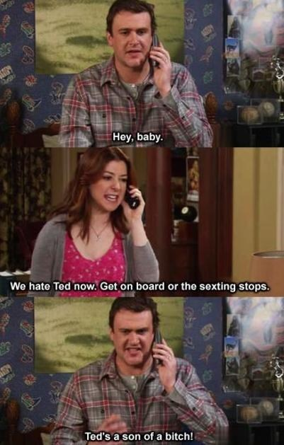 how i met your mother TED sexting