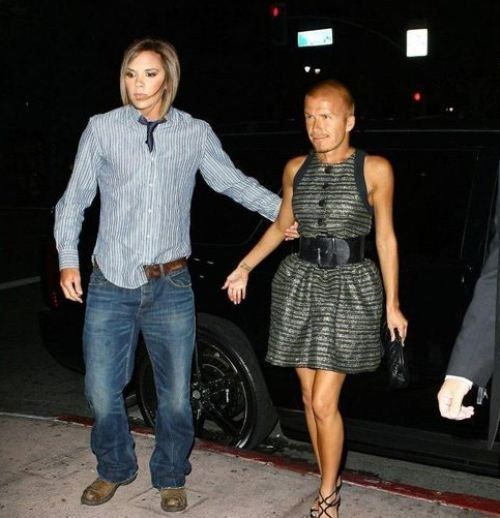 David Beckham,face swap,funny,shoop,Victoria Beckham