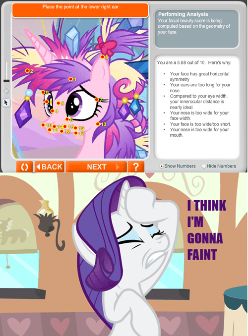 cadance her hair tho rarity beauty no