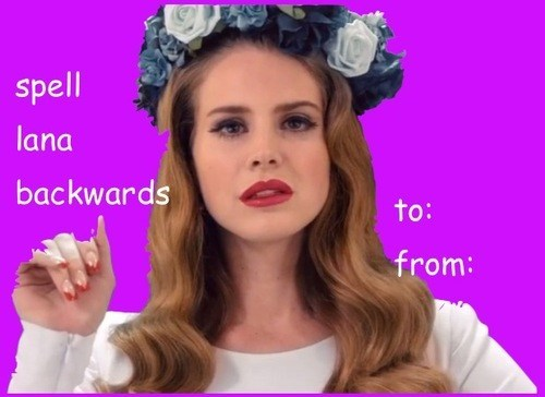 lana del rey butts valentine's day cards - 7055490048