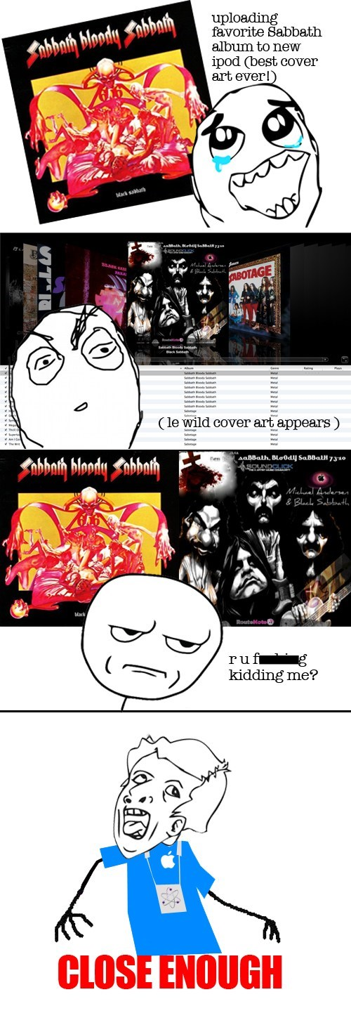black sabbath,album covers,Rage Comics