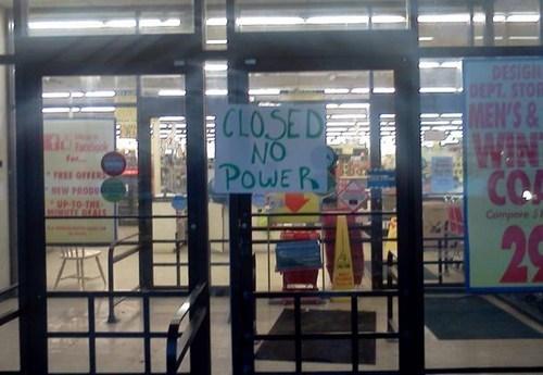 stores wrong closed no power - 7055574016