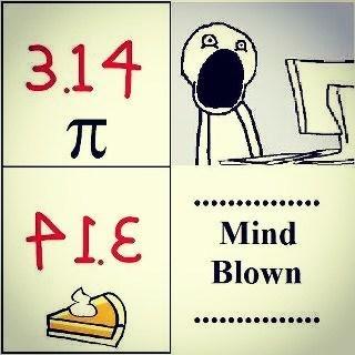 mind blown pi pie math - 7055592704