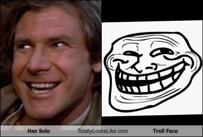 TLL,troll face,Han Solo,Harrison Ford