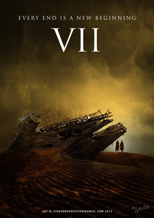 crashed,star wars,poster,movies,Fan Art,episode 7,millennium falcon