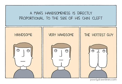 poorly drawn lines,chins,comics,handsome