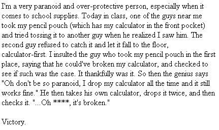 class over protective paranoid calculator - 7055852032