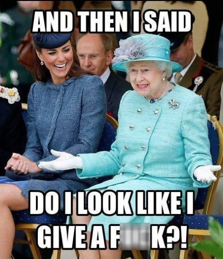 Queen Elizabeth II give a fudge kate middleton laughing stories