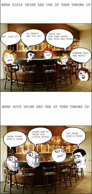 sympathetic,too drunk,men vs women