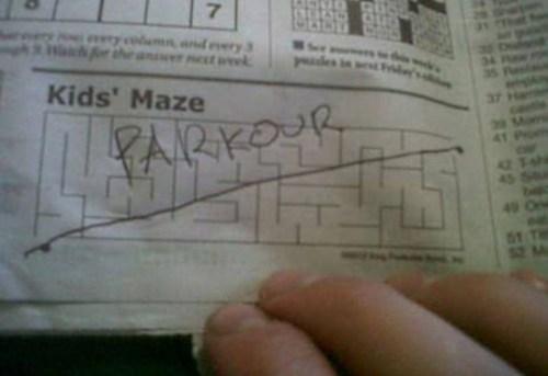 parkour kids maze - 7055908864