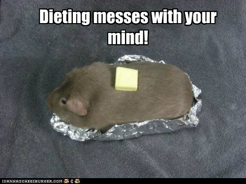 guinea pigs dieting butter baked potato - 7055976960