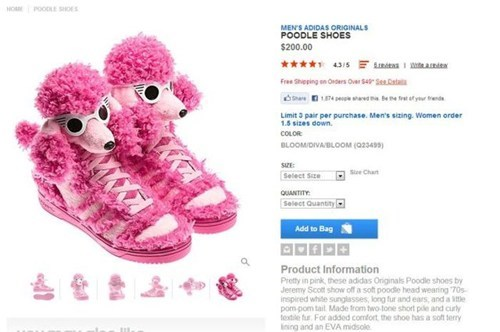 shoes poodles pink - 7056002048