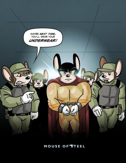 Fan Art,mighty mouse,next time,man of steel,superman,underwear