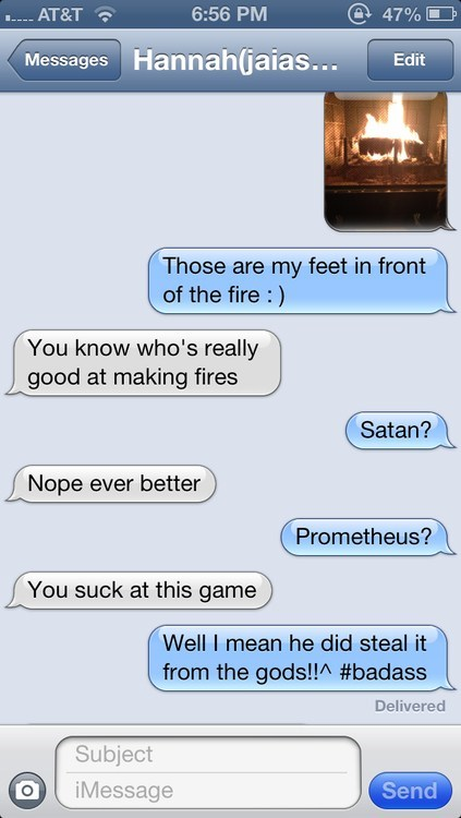 prometheus,iPhones,satan,fire