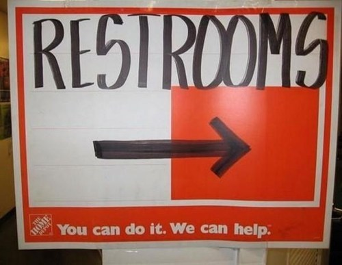 sign restroom home depot bathroom fail nation g rated - 7056121856