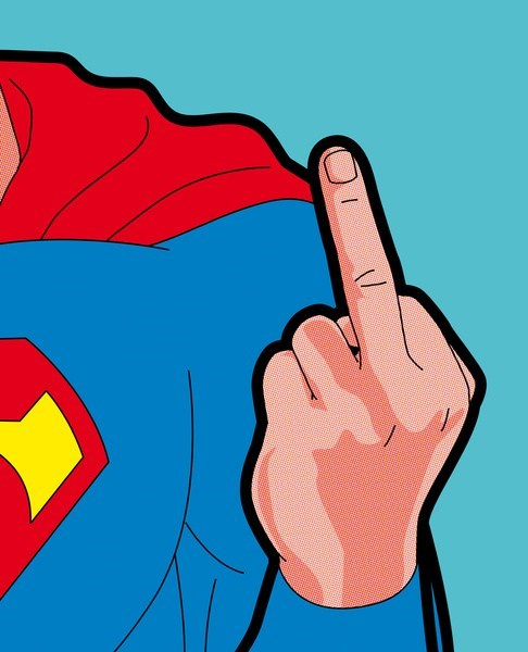 art middle finger awesome superman - 7056177408