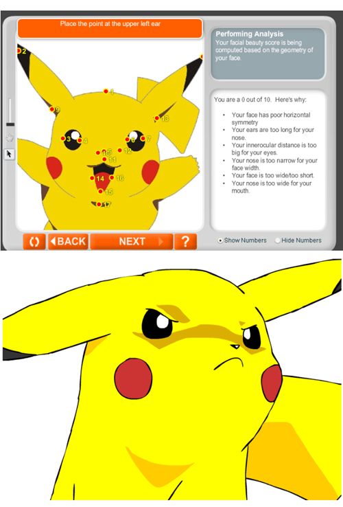 pikachu,facial beauty